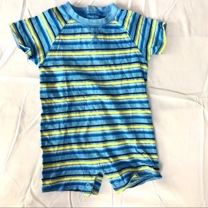 Striped baby one piece like new